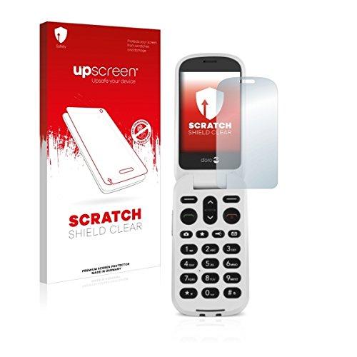 upscreen Scratch Shield Clear Bildschirmschutz Schutzfolie für Doro 6050 (hochtransparent, hoher Kratzschutz)