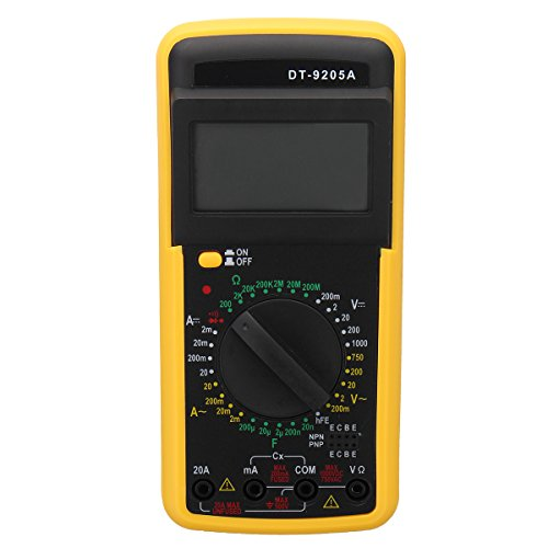Tutoy Dt-9205A Digital Multimeter Lcd Ac/Dc Ampere Kapazitiv Widerstands Tester (Digital Ampere Multimeter)
