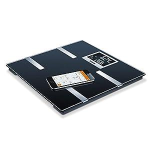 Beurer BF 700 Diagnosewaage mit App zur Körperanalyse, Körperfettwaage zur Messung von Körperfett, Muskelanteil, AMR, BMR, Vernetzung mit Smartphone