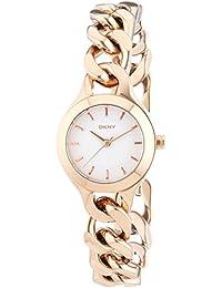 DKNY NY22144 - Reloj de cuarzo para mujer, correa de acero inoxidable chapado color oro rosa