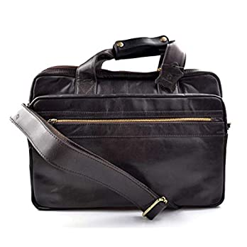 Leder herren damen tablet tasche notebook tasche messenger ledertasche umhangetasche schultertasche tragetasche tasche dunkelbraun