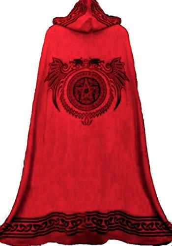 Kostüme Genial Larp (Dark Dreams Mittelalter Gothic Ritual Umhang Celtic Spirit,)