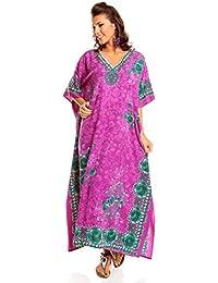 Neuf Femmes Surdimensionné Maxi Kimono Tunique Caftan Robe Caftan Grande Taille 10 - 28 - Pourpre, EU 38-44