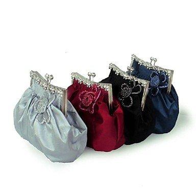 Frauen stilvolle Blume falten Abendessen Pack Taschen Blue