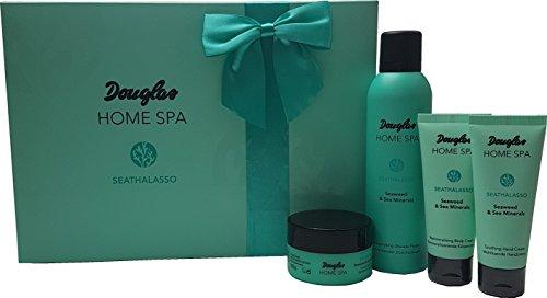 Douglas Beauty System - Home Spa - seathalasso - SEAWEED & Sea Minerals - Set - Coffret Cadeau - Mousse Douche 200 ml + Gommage 100 g + body cream 75 ml + Crème Mains 75 ml
