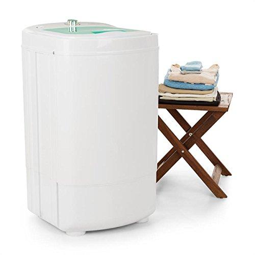 Foto de oneConcept Wirlbelwind • Centrifugadora • Secadora de camping • Carga superior • Rpm: 1.350 • Función de temporizador • Transportable • Económico • Potencia de 250 vatios • Secado rápido • Delicado • Silencioso • Capacidad de carga: 8 kg • Blanco