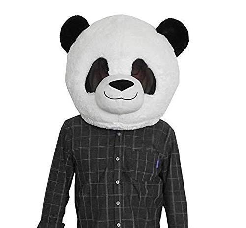 SANEYDER Plüsch-Panda Kopfmaske Halloween Panda Maskottchen - Plüsch Maskottchen Kostüm