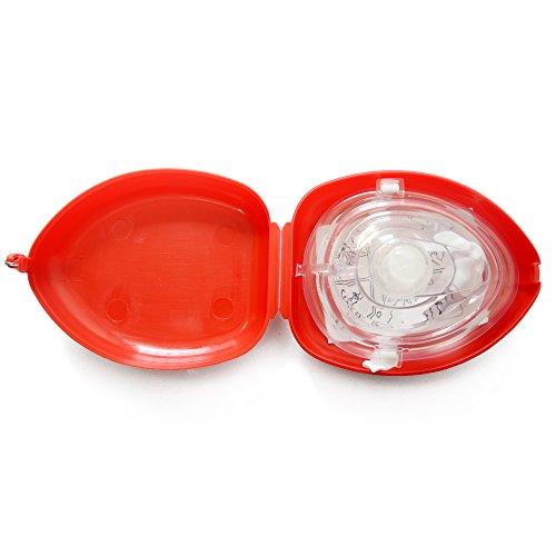 konmed CPR Maske rot Farbe Wiederbelebung Gesicht Maske OTC für Erste Hilfe Training, Stück 10 (Sicherheits-maske Sauerstoff)