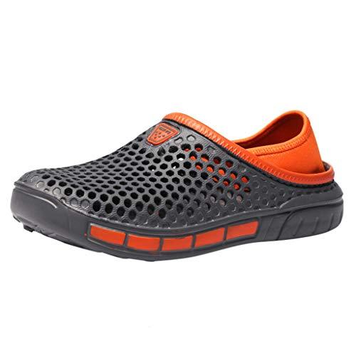 Pantofole Sportive Scarpe Casual Scarpe da Passeggio da Spiaggia da Uomo Summer Indoor (38 EU,Grigio)