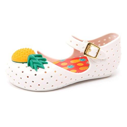 B3790 ballerina bimba MINI MELISSA scarpa gomma sandalo ananas bianco shoe kid [24]