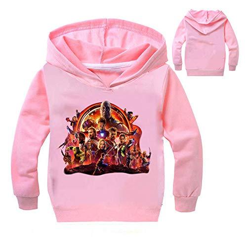 Kostüm Mädchen Pink Panther - Damrg Mädchen Jungen Kapuzenpullover mit Avengers Endgame Superheld Quantum 3D Hoodie/Kapuzenpulli/Kapuzenjacke/Sweatshirt Pullover Für Kinder Pink-5XL/160CM