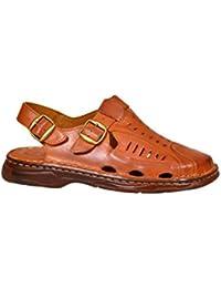 Herren Bequeme Sandalen Schuhe Mit Der Orthopadischen Einlage Aus Echtem Buffelleder Hausschuhe Modell 818