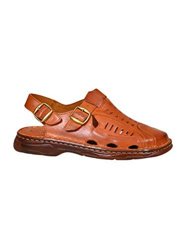 Comode scarpe da uomo in vera pelle di bufalo sandali punta chiusa modello-818