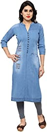 Denim Womenu0026#39;s Kurtas Buy Denim Womenu0026#39;s Kurtas online at best prices in India - Amazon.in