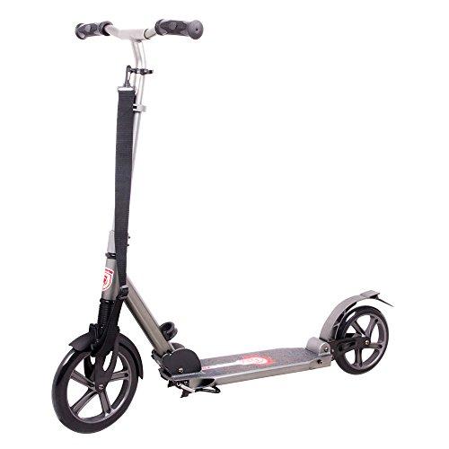 Preisvergleich Produktbild Alu-Scooter Authico Big Wheel 230/200 ABEC 9, klappbar, gefedert, bis 100 kg