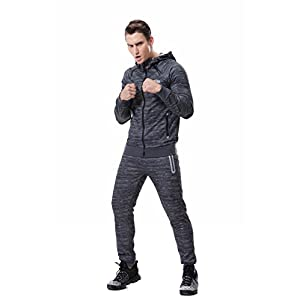 AIRAVATA Herren Trainingsanzug Sweatjacke Hose Sportbekleidung Jogging Fitnessanzug