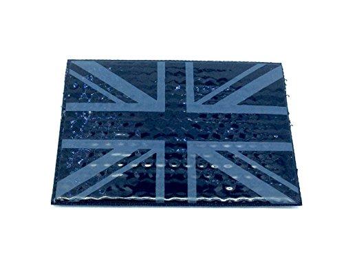 Réfléchissant Union Jack IR Noir PVC Airsoft Paintball Velcro Patch