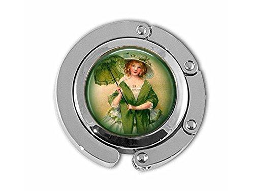 stahpk Irish Lass Sonnenschirm - irischer Kleiderbügel - St. Patrick's Day Green Jewelry - Vintage Ireland Jewelry - Irish Lass Hanger - Irland