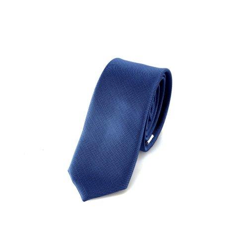 DonDon Schmale jeansblaue handgefertigte Krawatte 5 cm // verschiedene Farben wählbar