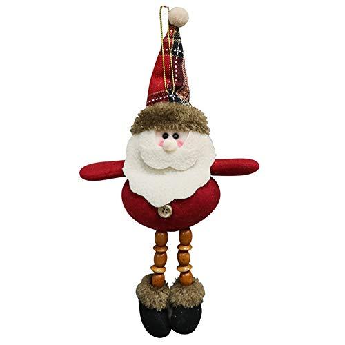 (Yearnly Weihnachtsverzierung Santa Snowman Rentier Toy Doll Hang Party Dekoration Weihnachtsschmuck)