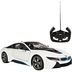 Rastar - Coche teledirigido 1:14, BMW i8, color blanco (ColorBaby 75891)