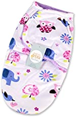 Baby Bucket Baby Swaddle Wrap Soft Envelope For Newborn (White & Purple)