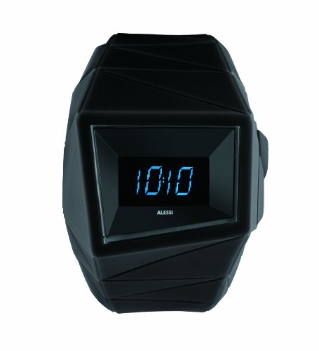 Alessi - 372AL22000 - Montre Mixte - Quartz - Digitale - Bracelet plastique noir