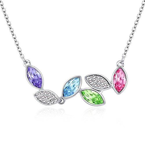 LEIU Halskette Kristall Halskette Damen Anhänger Halskette