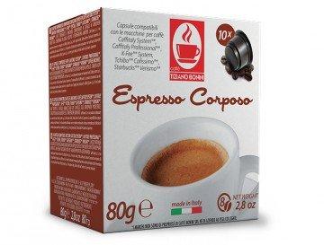 CAFISSIMO (Tchibo) CORPOSO Kaffee - 10 Stück Kompatible Kaffeekapseln von Caffè Bonini Italien.