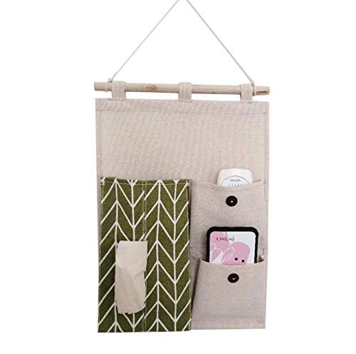 Niya Soft Hanging Paper Towel Hanging Bag Wall Storage Bag Wall Door  Storage Bag Mobile Phone Remote Control Paper Hanging Robes Color Random  2pcs