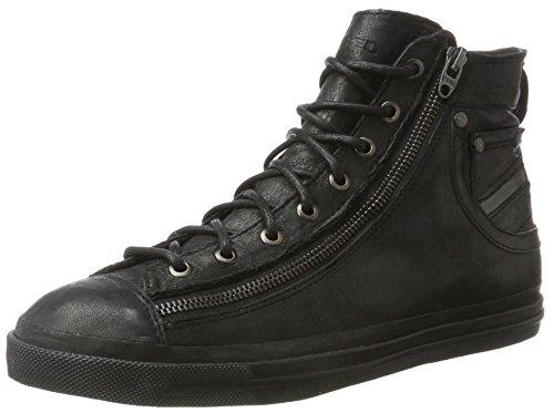 Diesel magnete expo-zip, sneaker a collo alto uomo, nero (black t8013), 46 eu