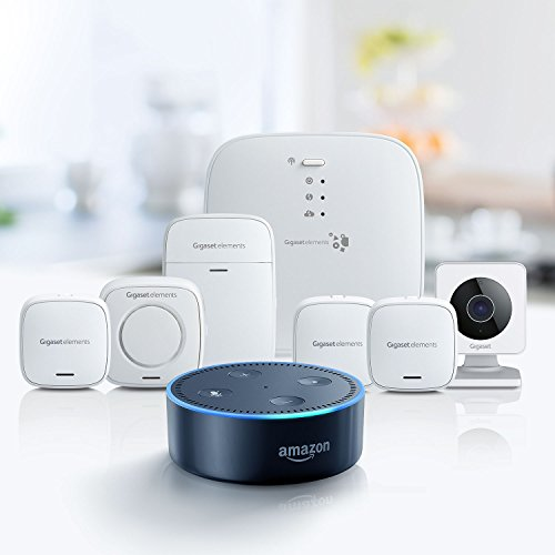 Gigaset elements Alarmanlage / elements alarm system L + Amazon Echo Dot (2. Generation), Schwarz