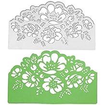 Troqueles de corte de metal con diseño de flores, plantillas de corte de metal para