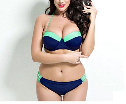 Maillots De Bain Femme, Sexy Mode Grande Taille Bikini ( couleur : B , taille : XXXL ) A