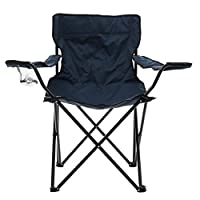Premier Housewares Folding Adult Camping Chair, 80 x 80 x 50 cm - Blue