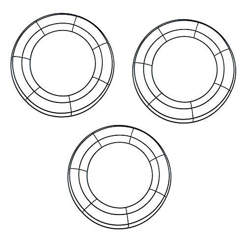 tatoko 35,6 cm Metall Kranz Rahmen Ring rund DIY Makramee Floral Crafts Draht Kranz Form Weihnachten Dekoration Tür Craft Schwarz 3 Stück
