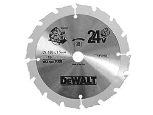 DT1208 Lames pour scies circulaires sans fil D 165 - 18 Dnts dewalt