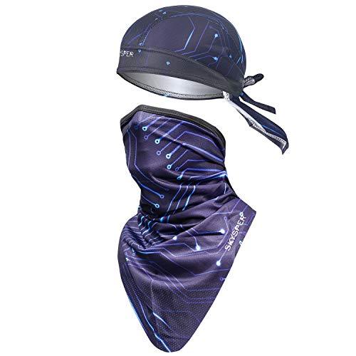 SKYSPER 2 PCS Pañuelos Cabeza Bufanda para Ciclismo Moto Máscara Protección UV...