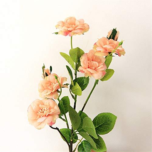 Lineary Kunstblumen & -Pflanzen/Blumen Künstliche Rose Silk Flowers Bouquet Startseite Hochzeitsdekoration (Farbe : Orange, Größe : Einheitsgröße)