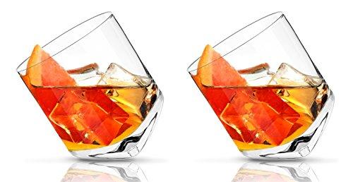 Glassquisite - Design Gläser - 2er Set mit Kipp-Effekt - 2 x 300ml