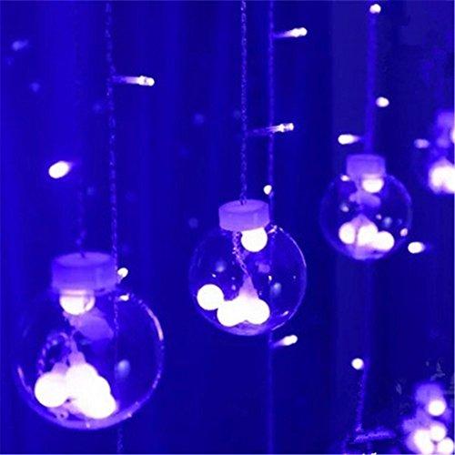 DulceCasa 3M x 0.55-0.8- 1m luci a sfera palloncini ghirlanda luminosa Tenda Luce 120Led Impermeabile Natale festa Marriage giardino Deco blu