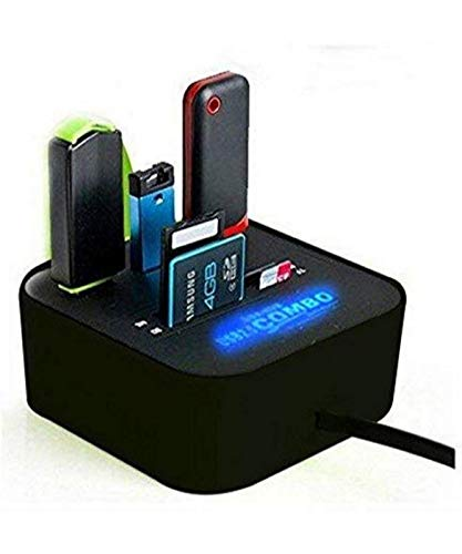 Global Craft All in One Combo Card Reader for Pen Drive/Cameras/Mobiles/PC/Laptop/Notebook Or Docking Station/MP3s/PDAs,Color May Vary Model 64887
