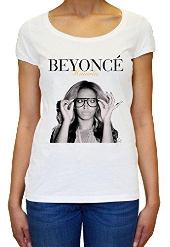 Beyonce Knowles Crazy Graphic Design Women's T-Shirt Medium