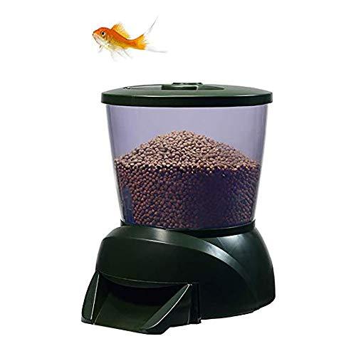 Znn dispositivo di alimentazione automatica - alimentatore per pesciolini d'acquario alimentatore per pesciolini, programmazione di display lcd programmabile quantitativo, adatto per acquario