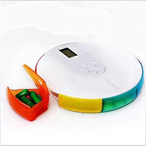 Xxbf portatile portapillole elettronico automatico con allarme, 7 scomparti per farmaci e timer, impermeabile, programmabile, per esterni, viaggi, campeggio, pronto soccorso