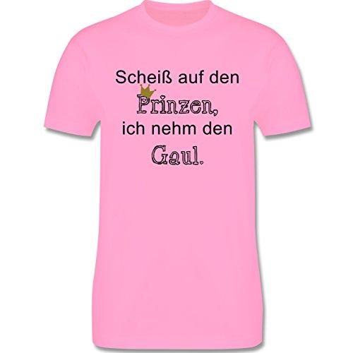 Statement Shirts - Scheiß auf den Prinzen, ich nehm den Gaul - Herren Premium T-Shirt Rosa