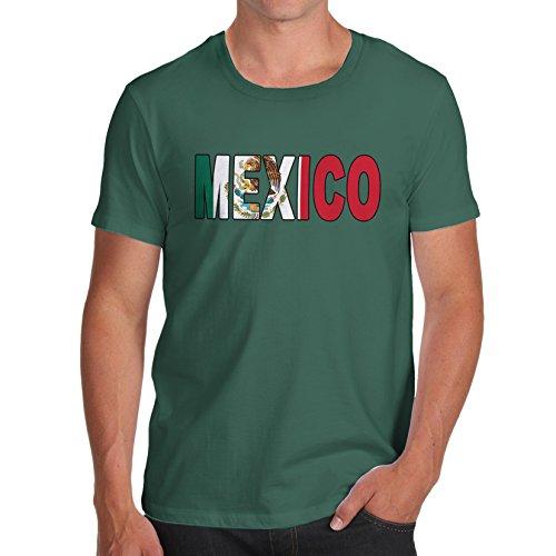 d1ab9dcb7 Novelty Tshirts Men Mexico Flag Football Soccer Men s T-Shirt Small Bottle  Green