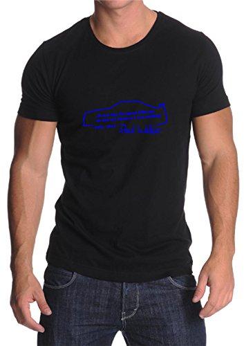 Paul Walker´s Zitat auf schwarzem T-Shirt (M, Gelb) (T-shirt Zitat Gelben)