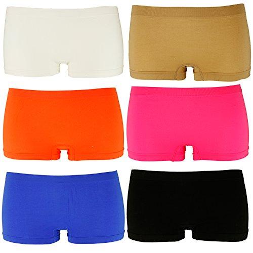 6er Pack Damen Boxershorts. Hot Pants Panty . Dessous Hipster Slips 168081 Größen L/XL (Boxershorts Panty)