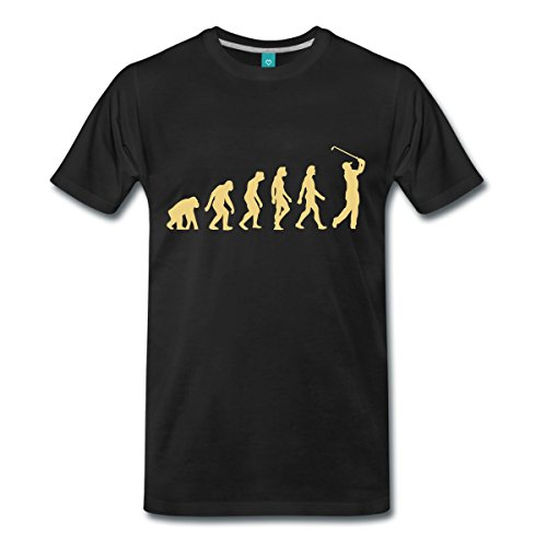 Geburtstag Golf Shirt (Spreadshirt Golfer Evolution Golfen Golfspieler Männer Premium T-Shirt, XL, Schwarz)
